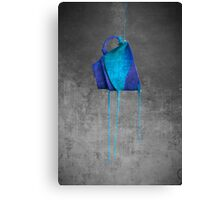 Blue On Black Canvas Print