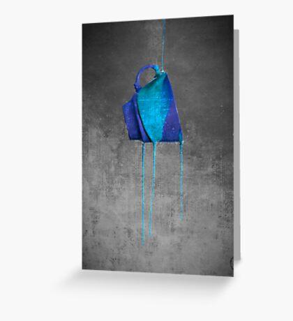 Blue On Black Greeting Card