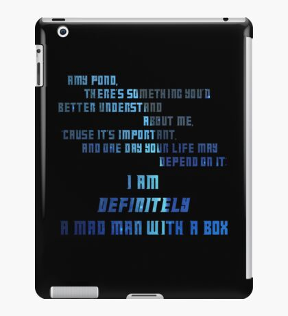 Madman With A Box | Doctor Who iPad Case/Skin