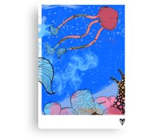 Peace Crew Water Poster Canvas Print