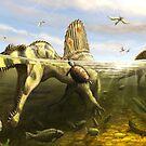 Spinosaurus & Fish by Brian engh by Brian Engh