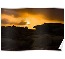 Sunrise on Stanage Edge Poster