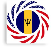 Barbadian American Multinational Patriot Flag Series Canvas Print