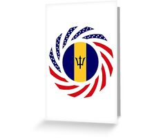 Barbadian American Multinational Patriot Flag Series Greeting Card