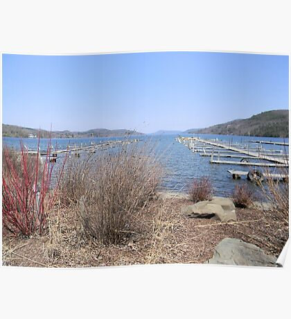 Early Spring on Otsego Lake Poster