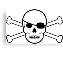 pirate skull and crossbones Canvas Print