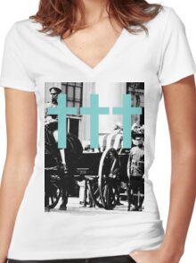 Nineteen Twenty Three Women's Fitted V-Neck T-Shirt