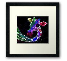 Psychedelic Giraffe Framed Print