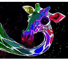 Psychedelic Giraffe Photographic Print