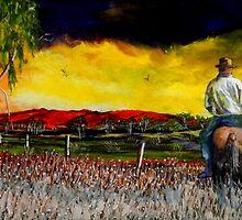 The Boundary Rider by sandysartstudio