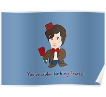 Dr Who Valentines: Both my Hearts Poster
