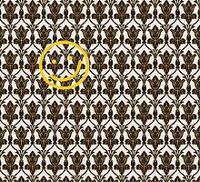 BBC Sherlock Holmes Damask Wallpaper Pattern by happycheek
