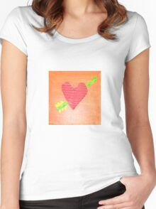 Hearts Women's Fitted Scoop T-Shirt