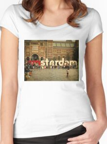 Summer in Amsterdam Women's Fitted Scoop T-Shirt
