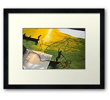 picture in stitches Framed Print