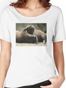 Otters cuddling Women's Relaxed Fit T-Shirt