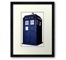 Simple Tardis  Framed Print