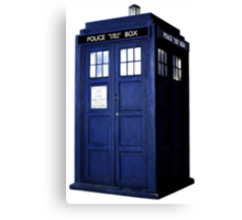 Simple Tardis  Canvas Print
