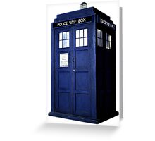 Simple Tardis  Greeting Card
