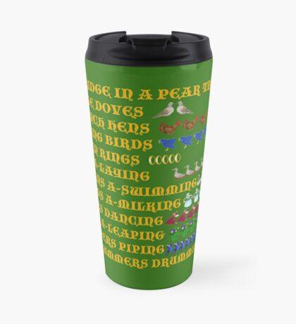 Twelve Days of Christmas List Travel Mug