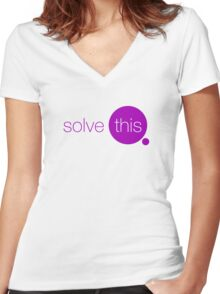Solve This Women's Fitted V-Neck T-Shirt