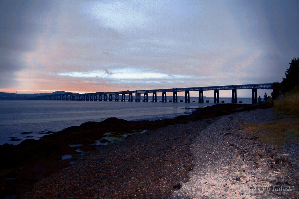 The Rail Bridge over the Tay River. by Forfarlass