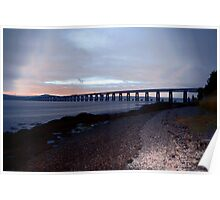 The Rail Bridge over the Tay River. Poster