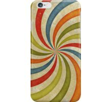 Psychedelic Retro Spiral iPhone Case/Skin