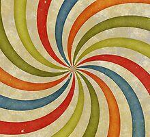 Psychedelic Retro Spiral by BonniePhantasm