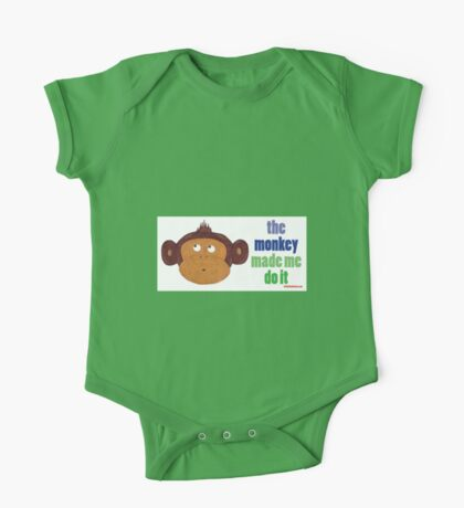 The Monkey Made Me Do It One Piece - Short Sleeve
