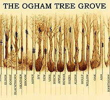 Ogham Tree Grove by Yuri Leitch