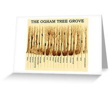Ogham Tree Grove Greeting Card