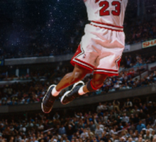 Michael Jordan Space Text Sticker