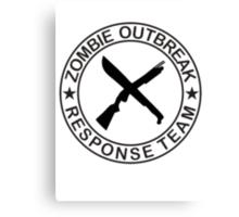 ZOMBIE OUTBREAk RESPONSE TEAM gun & Machete Canvas Print
