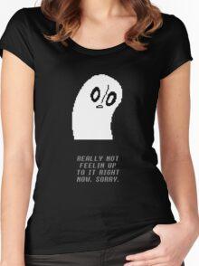 Undertale - Napstablook Women's Fitted Scoop T-Shirt