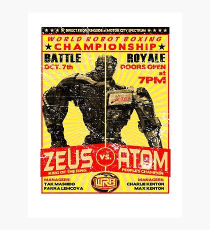 Zeus vs. Atom Photographic Print
