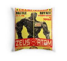 Zeus vs. Atom Throw Pillow