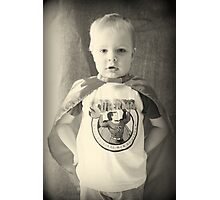 Little Boys Are Superheros Photographic Print