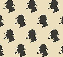 Sherlock Holmes Silhouette Pattern by happycheek