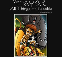 David & Lion (With YHWH All Things Are Possible) Unisex T-Shirt