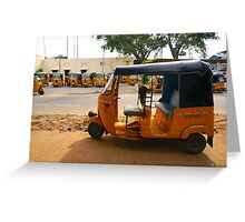 Auto Rickshaw Greeting Card