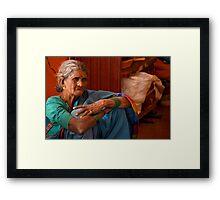 Old Lady Framed Print