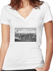 The Generals Of The Confederate Army Women's Fitted V-Neck T-Shirt