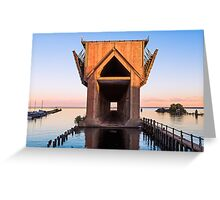 Old Ore Dock at Marquette, Michigan Greeting Card