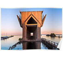 Old Ore Dock at Marquette, Michigan Poster