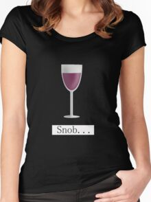 Wine Snob Women's Fitted Scoop T-Shirt