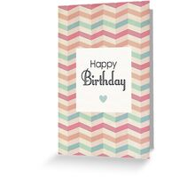 Retro Colourful ZigZag - Birthday Card Greeting Card