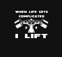 When Life Gets Complicated, I Lift. Women's Fitted Scoop T-Shirt