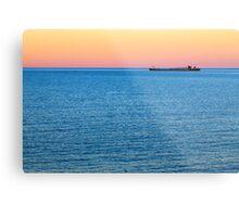 Great Lakes Freighter at Dusk Metal Print
