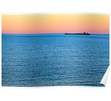 Great Lakes Freighter at Dusk Poster